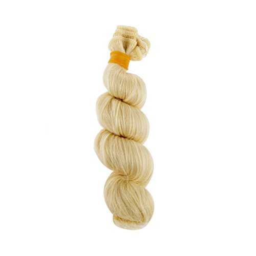 CUTICATE 15x100cm Puppe Perücke Lockiges Haar Für 1/3 1/4 1/6 BJD DOD LUTS DIY Making & Repair - Light Gold, 15x100cm