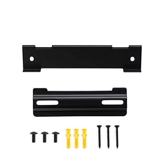Wall Mount Kit for Bose Solo 5 Soundbar Bracket Stand Compatible with Bose WB-120 Soundtouch Cinemate 120 Speaker Mounting Brackets (Black)