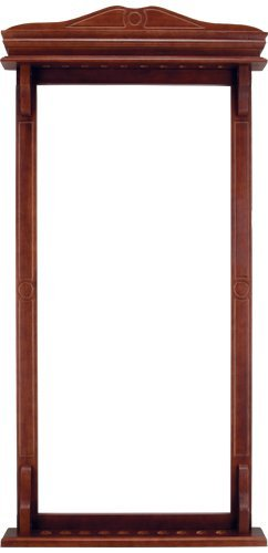 10 Pool Cue Stained Wood Wall Rack by CueStix International