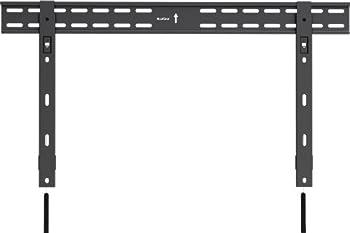 QualGear QG-TM-002-BLK 37-Inch to 70-Inch Universal Ultra Slim Low Profile Fixed Wall Mount LED TVs Black