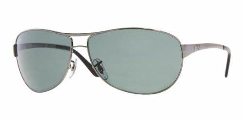Gafas de sol Ray-Ban WARRIOR (RB 3342), (verde, plomizo, (004-Gunmetal/Crystal Green)), 60 mm
