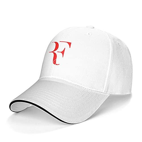 Roger Federer Unisex Uomo Donna Regolabile Berretto Baseball Cap Cappellino Outdoor Cappello da baseball Berretto Berretto da baseball, bianco, Taglia unica