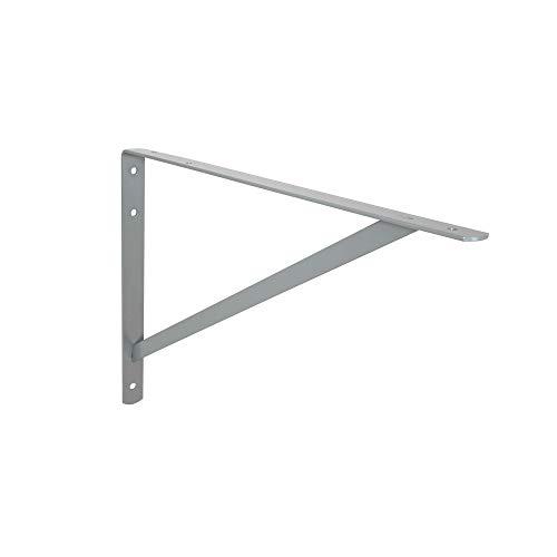 Toolerando Soporte de estante ángulo triángulo/Soporte escuadra, 330 x 500 mm, plateado
