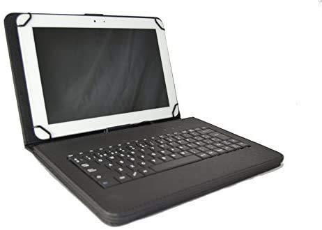 theoutlettablet Funda con Teclado extraíble en español (Incluye Letra Ñ) para Tablet Samsung Galaxy Tab A7 WiFi 10,4' Type-C Color Negro