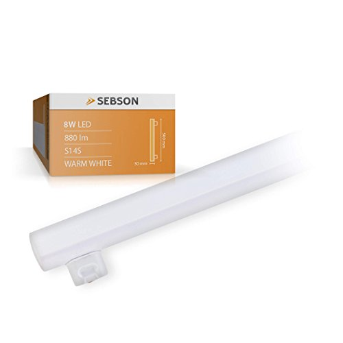 SEBSON LED Lampe S14S 50cm, 8w, ersetzt 65W Glühlampe, 880lm, warmweiß, LED Linienlampe 150°