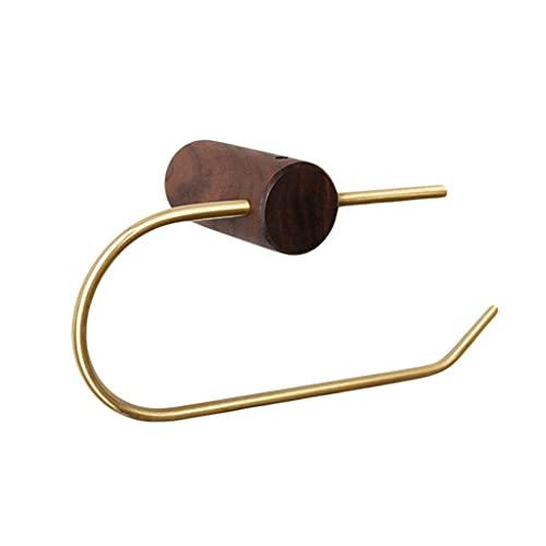 GDSMTG Titular de Papel Toliet, Soporte de Toalla de Papel para el Soporte de Rodillo de Tejido montado en la Pared de baño Multifunción (Color : Brown)