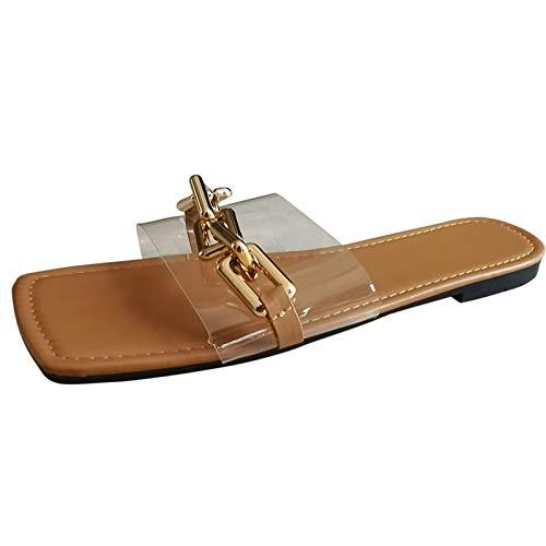WINTOM Sandali Con Plateau Donna Estive Scarpe Da Ginnastica Da Donna In Offerta Sandali E Pantofole Da Donna Con Catena Piatta A Testa Quadrata Estiva Da Donna