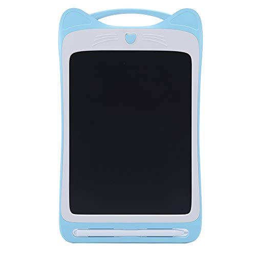 Cuifati Tableta de Escritura de Colores, Pizarra electrónica de Dibujo, Pantalla LCD Flexible, Almohadilla de Escritura CR2016, Tableta gráfica(Blue)
