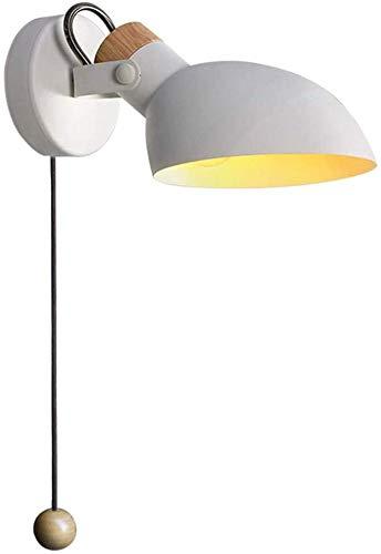 La lectura de la lámpara de pared moderna luz, con un interruptor para el dormitorio sala de estar,White