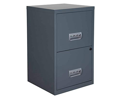 Pierre Henry Metal 2 Drawer Maxi Filing Cabinet A4 - Color: Granite