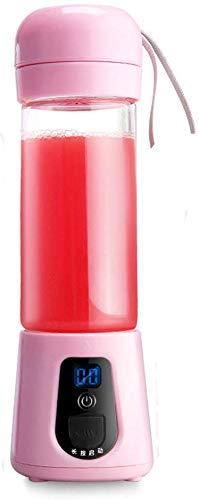 GPWDSN Personal Blender Portable Juicer Cup/Elektro Obst Mixer/USB Juice Mixer, Wiederaufladbare, 380 Ml (Pink)