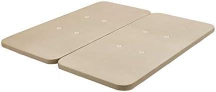 HOGAR24 ES Base tapizada 160 x 200 Reforzada sin Patas, tapizado 3D Color Beige + 4 válvulas de transpiración (2 Bases De 80cm con Abrazadera)