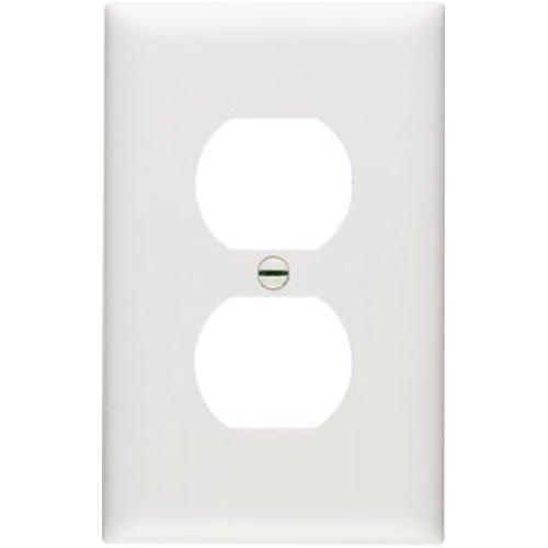 Pass & Seymour TP8WCP TradeMaster One-Gang One-Duplex Outlet Wall Plate, 10-Pack, White
