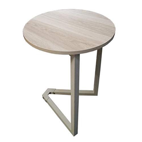 SXDHOCDZ Mesa de Centro de Hierro Sala de Estar pequeña Mesa Redonda Restaurante Ocio Sofá Locker Inicio Coffee Table (Color : A, Size : Small)