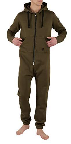 O'Poppy Herren Jumpsuit einteilig (M, olivgrün/schwarz)