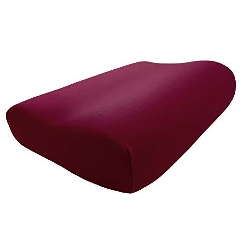Edda Lux Housse pour oreiller Tempur Original Queen S/M/L/XL   61 x 31 cm   Jersey de qualité pour coussin cervical   100 % coton   Couleur : bordeaux