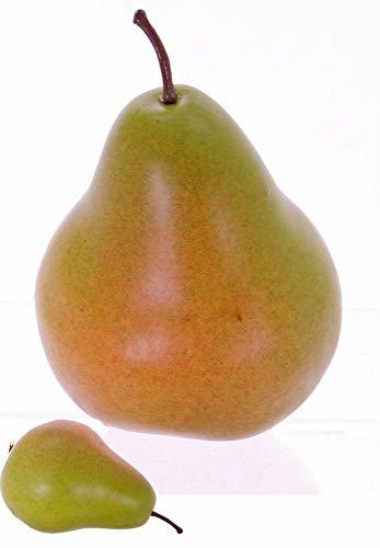 artplants.de Künstliche Birne BARISHA, grün-rot, 12cm, Ø 7,5cm - Künstliches Obst - Deko Früchte