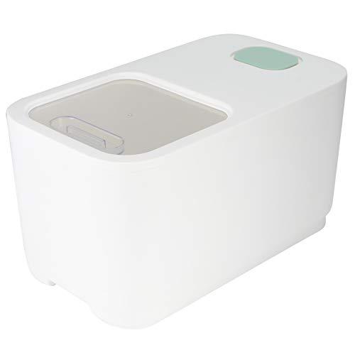 Recipiente de arroz, caja de almacenamiento de arroz, recipiente de almacenamiento de granos de arroz de alimentos grandes sellado a prueba de humedad para el hogar, utensilios de cocina