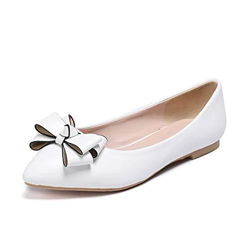 Zapatos De Novia De Brillante Zapatos Planos Las Mujeres Punta Cerrada Tacón Alto Delgado Diamante De Imitaciónsatén Zapatos De Boda,Blanco,43EU