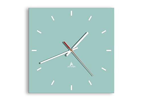 orologio kartell Orologio da parete - Quadrato - 30x30cm - Orologio da parete - Orologio in Vetro - Orologio Da Muro - Orologio Da Parete Moderno - Decorazione Parete - Home Decor - C3AC30x30-3270