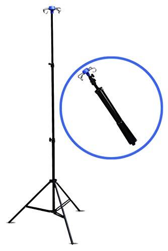 Carts Klappbar Infusionsständer Höhenverstellbar 70~210cm Infusionsstaender - 4 Haken - 3 Beine