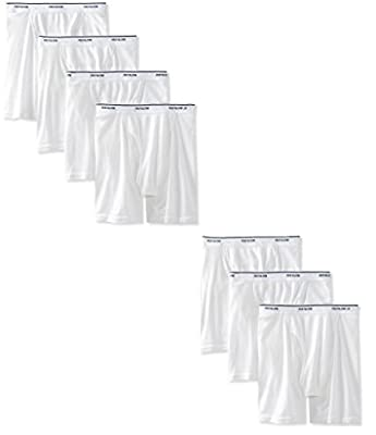 Fruit of the Loom Men's Tag-Free Boxer Brief (Pack of 7) (White: Fashion Exposed Waistband, X-Large (42-44 Inches)) from