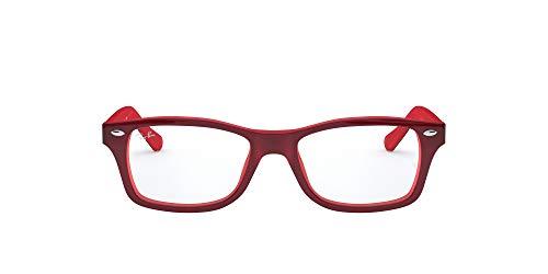 Ray-Ban 0Ry1531, Monturas de Gafas Unisex-Niños, Rojo (Top Red on Opalin Red), 48