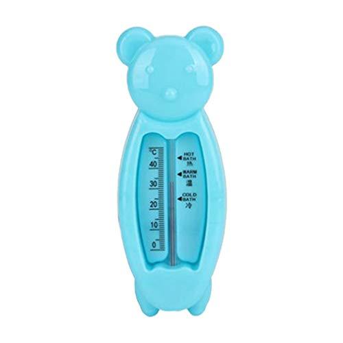 KinshopS Termómetros de Agua para bebés Juguete Forma de Oso Inteligente Juguetes para bebés Indicador de Temperatura Azul