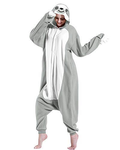 DOITNOW Sloth Pajamas Unisex Adult Jumpsuit Animal Cosplay Costumes Gray L
