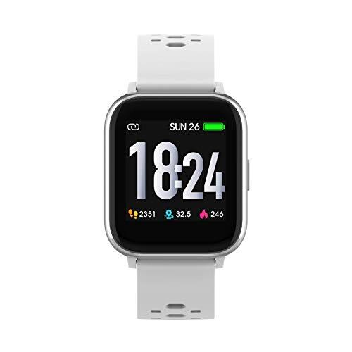 Denver SW163 Bluetooth-Smartwatch mit Herzfrequenzsensor und Körpertemperatursensor Weiß