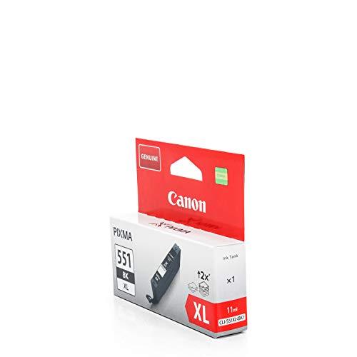 XL de tinta original para Canon Pixma MG 6350Canon CLI-551BK, CLI551BKXL 6443B001–PREMIUM Impresora de tinta–Negro–11ml