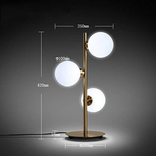 Tafellamp van PU-kunststof, moderne eenvoudige designers, 3 bolletjes, voor ogen, decoratieve lamp