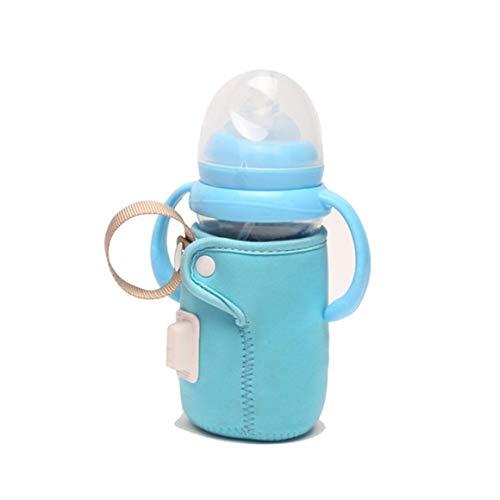 KoelrMsd Cubierta de Botella para niños Termostato Cubierta de Botella de alimentación con Mango Calentadores de Enchufe USB Calefacción de Coche Viaje Bolsa de Calentamiento de Botellas para niños