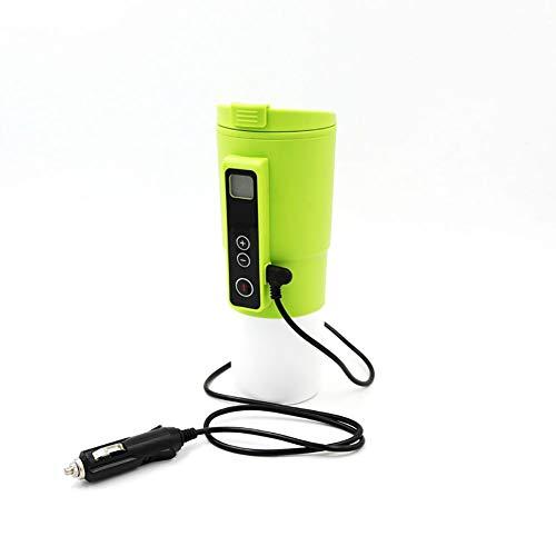 FENGE 380ml elektrische verwarmingsbeker, voor auto 12 V, roestvrij staal, elektrische verwarming, reisbeker, waterkoker, picknick, vissen