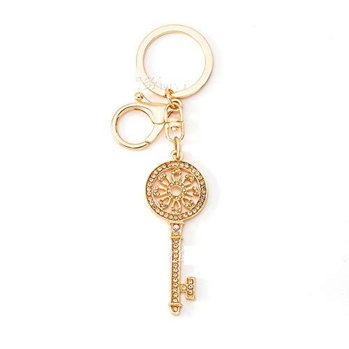 Sinzong sleutelhanger voor dames, sleutelhanger, 2 stuks champagne