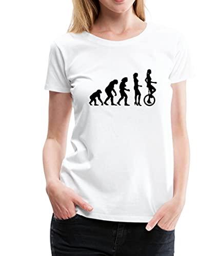 Evolution Einrad Frauen Premium T-Shirt, L, Weiß