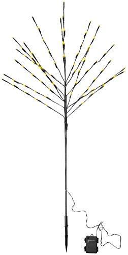 com-four Albero a LED Come Illuminazione Decorativa - Luce per Alberi con Funzione Timer Come Decorazione per Natale - Albero Luminoso per Interni ed Esterni (01 Pezzi - 110 cm con 80 LED)