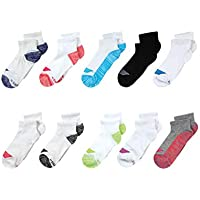 10-Pack Hanes Girls' Cool Comfort Ankle Socks