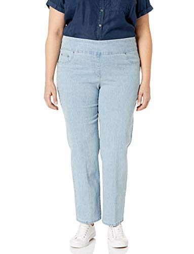 Ruby Rd. Women's Plus-Size Pull-on Extra Strech Denim Jean, Chambray, 22W
