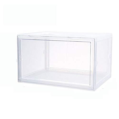 KANGLE-DERI Caja de Almacenamiento Plegable para almacenar artículos Armario de Zapatos Transparente...