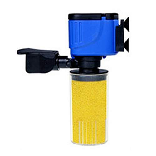 LOPQOI Mute 3 in 1 Aquarium Internal Filter Fish Tank Submersible Oxygenation Pump Spray Operation Water Purifier Filtration Aquarium Filter Accessories (Color : Yellow, Size : 12W)