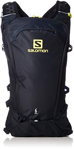 Salomon L40412700, Zaino Leggero da Corsa 6 l Agile 6 Set Unisex Adulto, Blu Scuro/Giallo (Night Sky/Sulphur Spring)