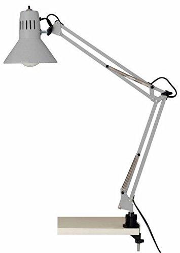 Brilliant Hobby - Lampada da scrivania con morsetto, 10802/11, colore titanio