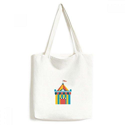 DIYthinker Erstaunlich Lustige Park Zelt Illustration Umwelt Waschbar Einkaufs-Tasche Fertigkeit-Geschenk 33 * 40cm Mehrfarbig