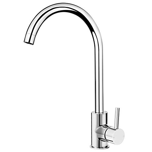 Kitchen Taps Mixer Monobloc for Kitchen Sink 360 Swivel Single Lever Chrome Finished