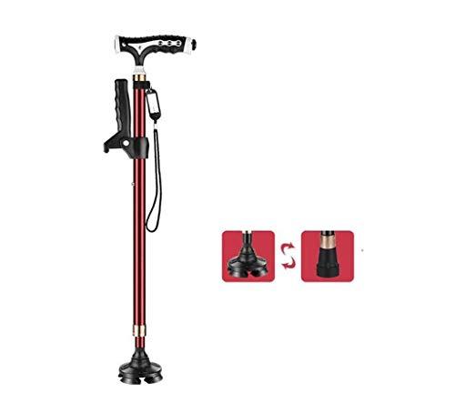 stampelle stampelle autosufficiente bastoncini da passeggio leggero leggero bastone da passeggio leggero stampella versatile con macchinestri a t magnetica stampelle rosse