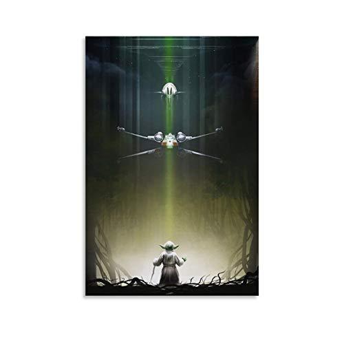 Megiri Darth-Vader-Star-Wars-Contemporary-Art-(5) Lienzo artístico para pared de 20 x 30 cm (20 x 30 cm)