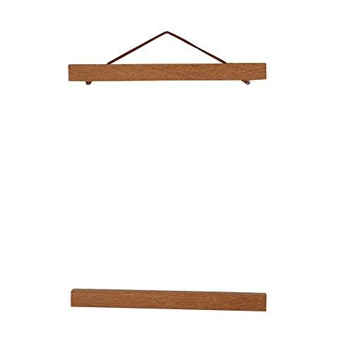 Magnetische bild poster moderne natürliche teakholz bilderrahmen aufhänger diy benutzerdefinierte poster scroll drucke kunstwerk aufhänger für foto bild leinwand poster kunst druck wandbehang(50cm)
