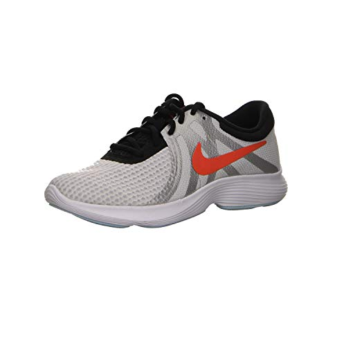 Nike Revolution 4 SD (GS), Scape per Sport all'aperto Bambino Unisex, Bianco (Pure Platinum/Team Orange-Blac 001), 23 EU
