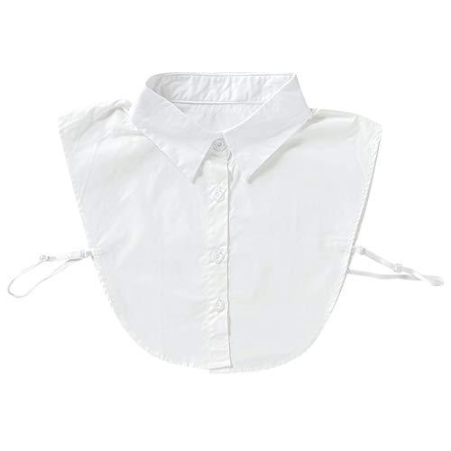 Tandou Einfach Damen Blusenkragen Baumwolle, Abnehmbare Krageneinsatz Für Pullover Accessoires